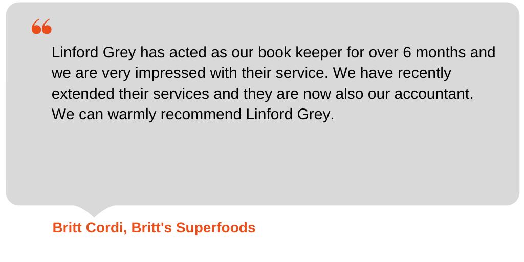 Testimonial from Britt's Superfoods