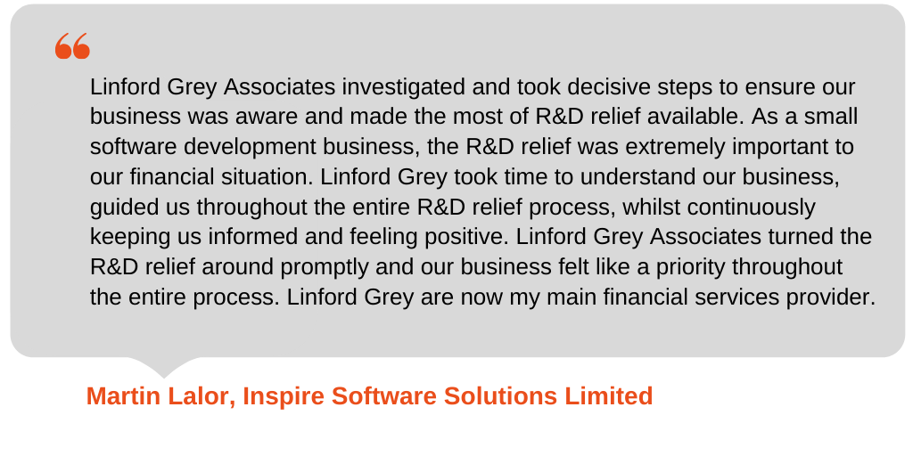Testimonial from Inspire Software Solutions Limited