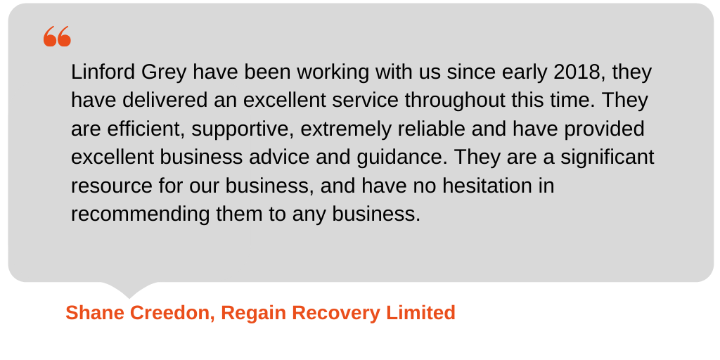 Testimonial from Regain Recovery Limited