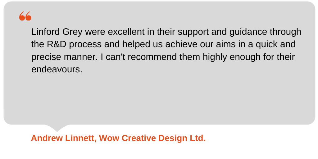 Testimonial from Wow Creative Design Ltd.