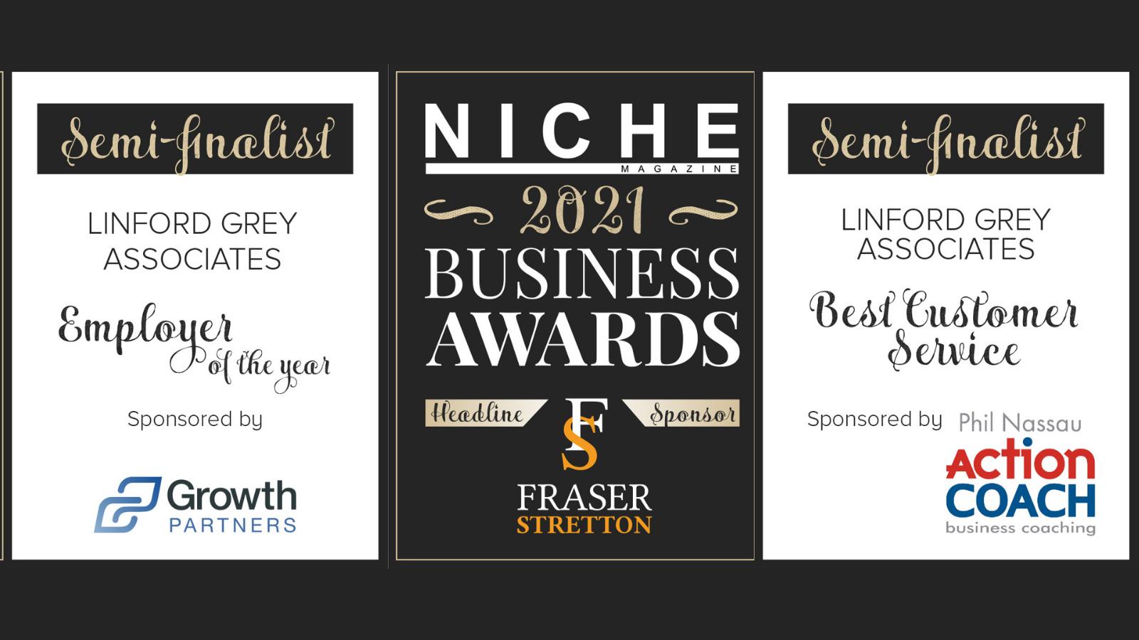 Niche Business Awards Semi-Finalists 2021